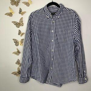 🦋🌙 JOHN BARTLETT   Blue Checkered Button Down